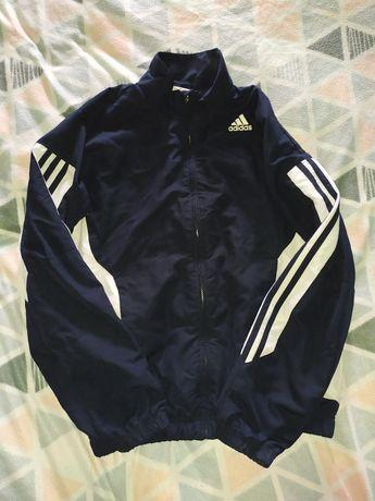 Wiatrówka adidas szelest vintage streetwear xs s 34 36 granatowa