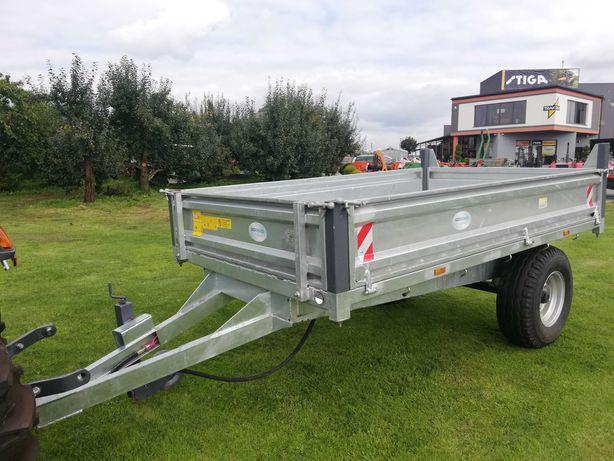 Przyczepa jednoosiowa rolnicza 4T + kiper - do traktorka japońskiego