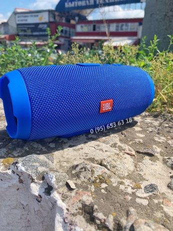 Колонка JBL charge 3+ Bluetooth USB microSD AUX FM синий