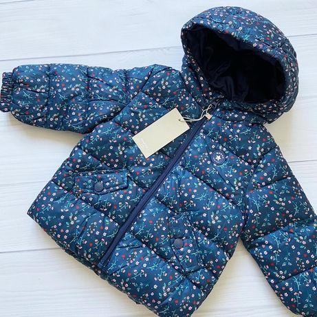 Новая теплая демисезонная куртка для девочки Mango 18-24 месяца