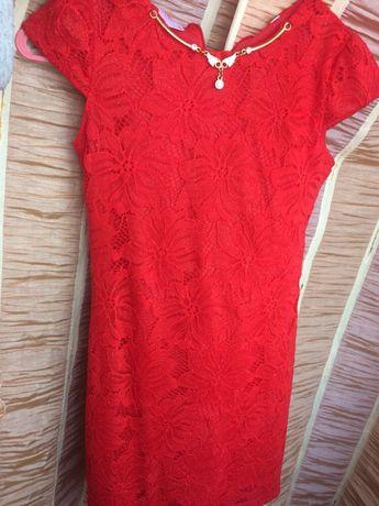 Платье нарядное праздничное выпускное красное