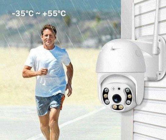 Уличная поворотная камера видеонаблюдения PTZ WiFi/ SD/+Крепление