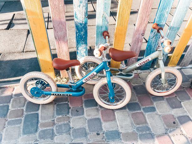 Беговел trybike велобег оливковый