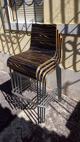 Cadeiras design altas bar ilha balcão Billiani 1911 italianas