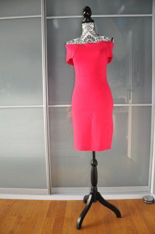 Seksowna różowa krótka sukienka Zara