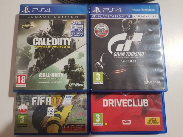 Wymienię 4 gry PS4.