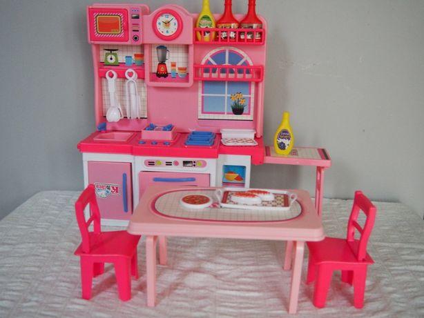Kuchnia dla lalek stół i krzesła akcesoria