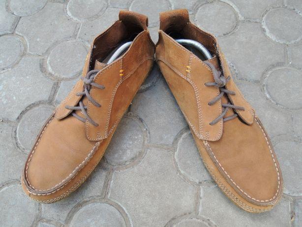 мягкие кожаные туфли casual Hush Puppies р.44 (28,5 - 29 см)