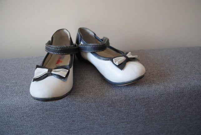 18-> półbuty pantofelki LASOCKI KIDS r.25 16cm eleganckie skóra