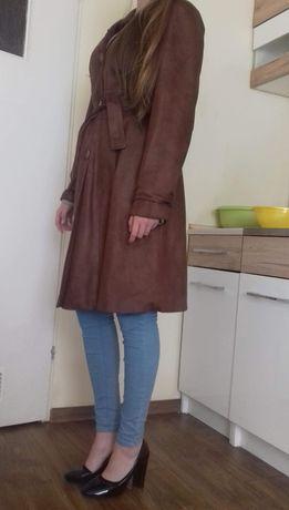Płaszcz zamszowy brązowy M