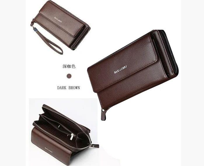 Мужской кошелек-клатч коричневый Киев - изображение 1