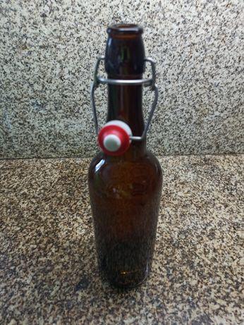 Garrafa de vidro de cerveja, com vedante 0,75