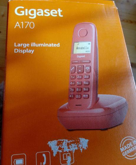 Telefone fixo sem fios GIGASET A170 vermelho