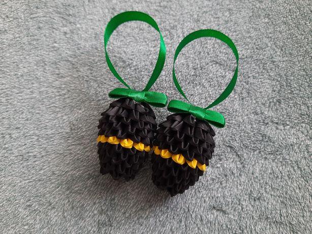 Hit pisanki jajka małe Wielkanocne 3D origami ręcznie wykonane wzór 2a