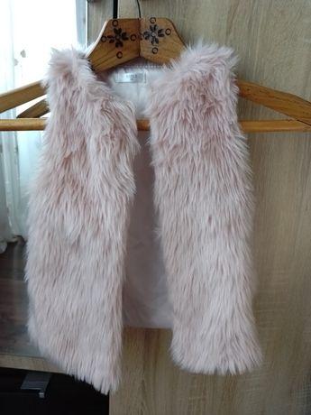 Пудрова жилетка для дівчинки
