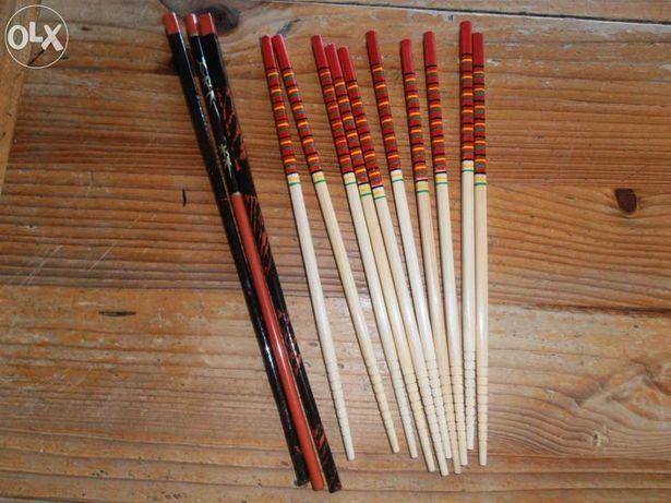 13 Pauzinhos japoneses, madeira