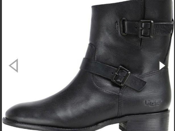 UGG кожаные деми ботинки ботильоны