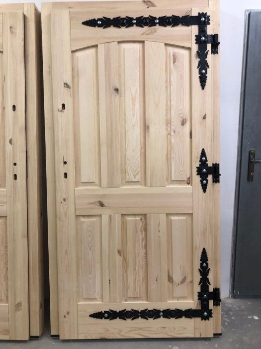 Drzwi zewnętrzne 75mm GÓRLASKIE DREWNIANE Grzybno - image 1