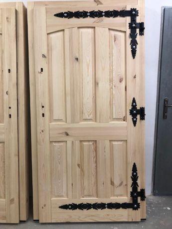 Drzwi zewnętrzne 75mm GÓRLASKIE DREWNIANE