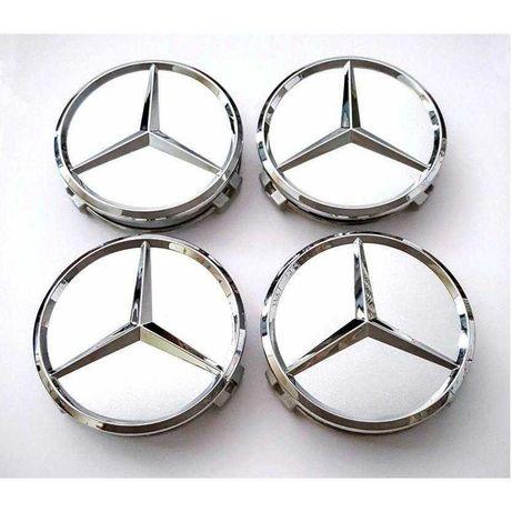 Колпачки на диски Mercedes 75мм a b c e s cl cls ml gl glk slk viano