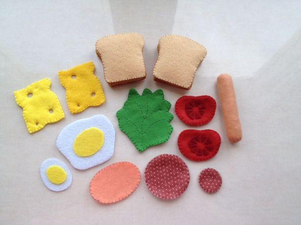Kanapki z filcu jedzenie do zabawy / do gotowania Rękodzieło