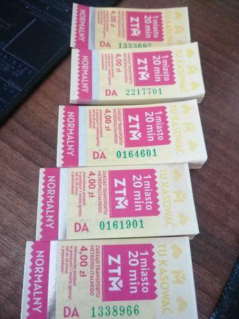 Bilety autobusowo - tramwajowy ZTM