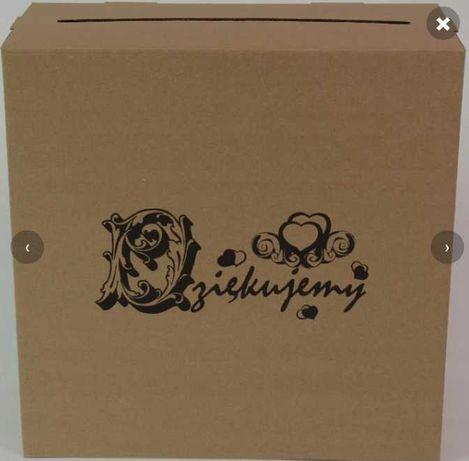 Pudełko na koperty eko boho ślub karton na prezenty ślubne