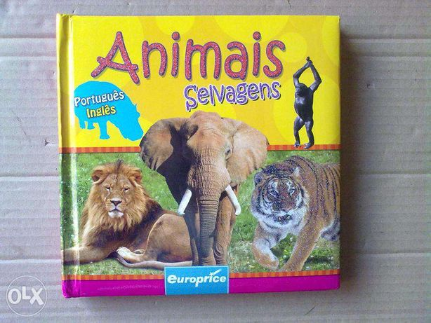 livro animais selvagens com nome em portugues e ingles