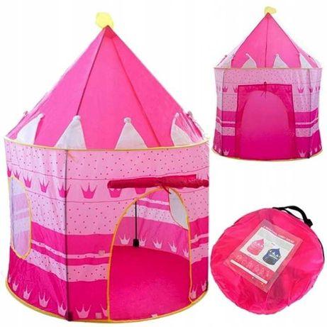 Namiot pałac domek dla dzieci zamek do domu ogrodu różowy + pokrowiec