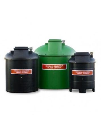 Depósito dupla parede para armazenamento de óleos usados 300 Litros