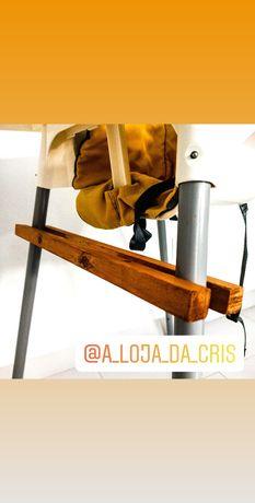 Apoio pés cadeira refeição tipo IKEA