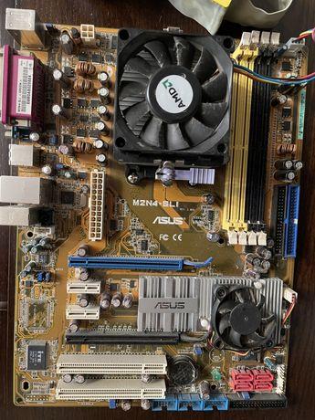 Материнская плата ASUS M2N4-SLI с проц. AMD,оперативкой и сетевой карт