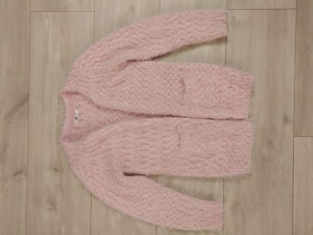 Super ciepły sweter, rozmiar 122, dla dziewczynki, pudrowy róż