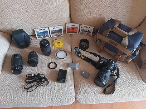 Nikon D80 + 3 Lentes + Baterias + Saco Transporte + Filtros e Extras