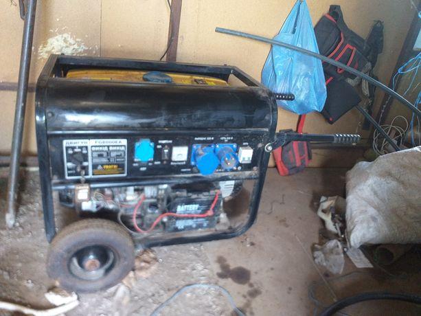 Бензогенератор 6 Квт с автоматическим запуском