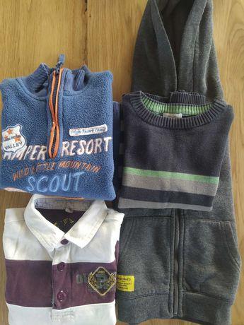 3 Bluzy i sweterek r. 98-104