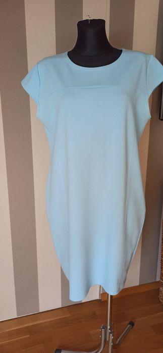 Błękitna ołówkowa sukienka Xl Tarnowskie Góry - image 1