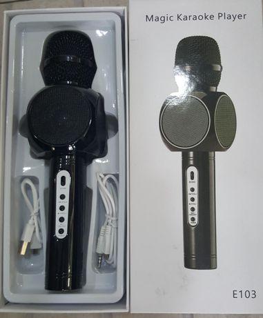 Microfone com colunas incorporadas