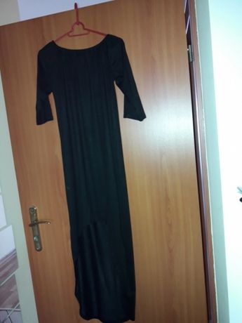 Sukienka czarna dłuższy tył r. L M
