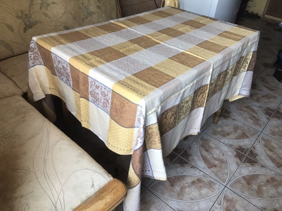 Скатерть льняная, 160 см × 170 см Мариуполь - изображение 1