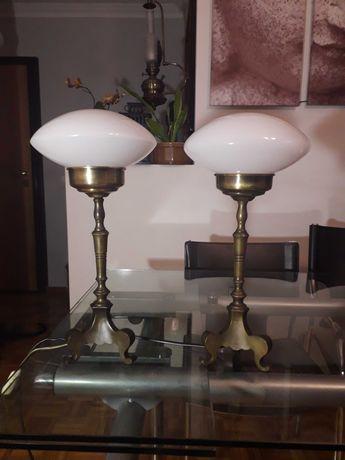 Candeeiros antigos de mesa Art Deco
