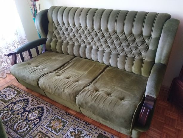 "Zestaw ""Jadwiga"" sofa + 2 fotele."