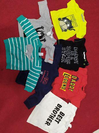 Koszulki i spodnie dla chłopca 62-68