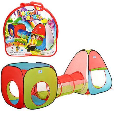 Детская игровая палатка два домика с тоннелем M 2958 4 входа 230*78*91