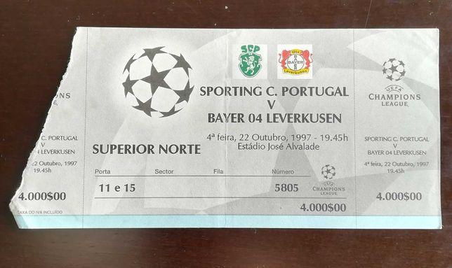 Bilhete Sporting X Bayer 04 leverkusen