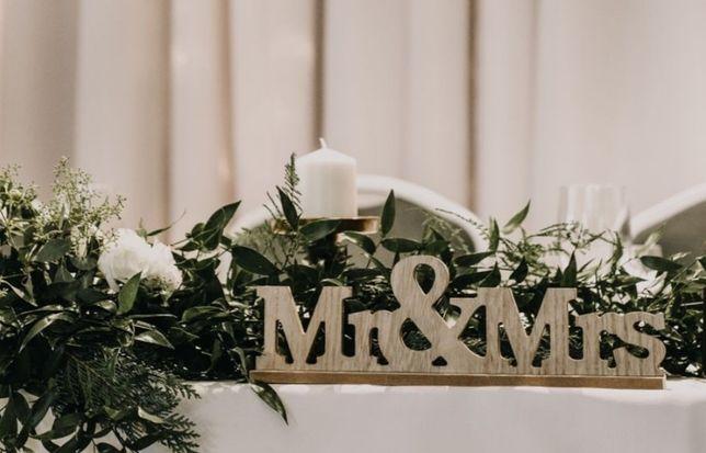 Napis Mr&Mrs