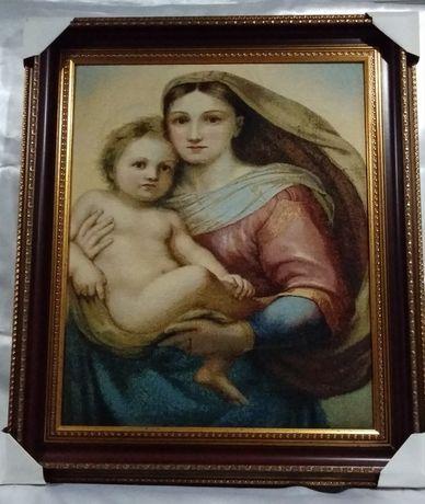 """Картина гобелен """"Мадонна с младенцем"""""""