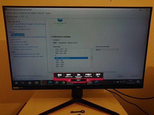 "Monitor Gaming LG 31.5"" 32GN550-B FHD VA HDR10 165Hz 1ms G-SYNC"