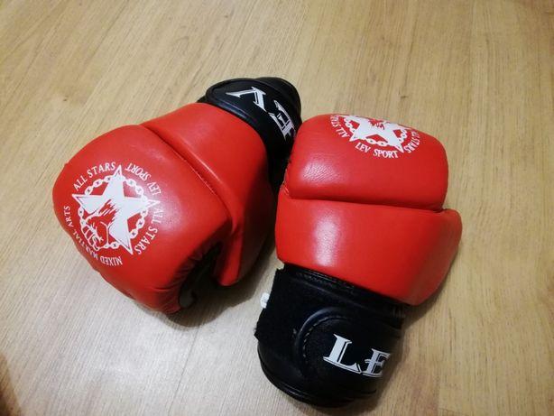 6 унций оригинал кожаные перчатки для ММА Lev Sport