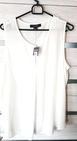 Primark piękna zwiewna kremowa bluzka uk16 rozm. 44 ecru